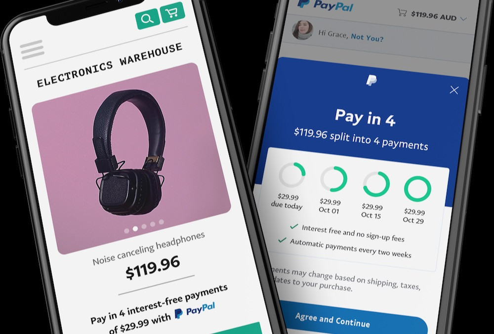 PayPal BNPL User Interface