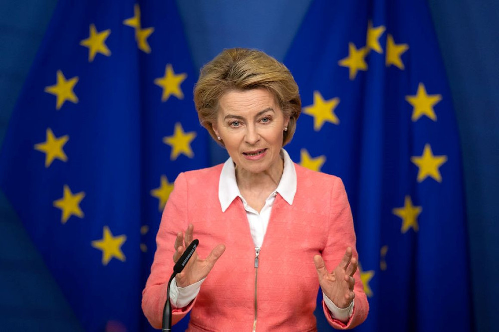 President of EU Commission, Ursula Von Der Leyen