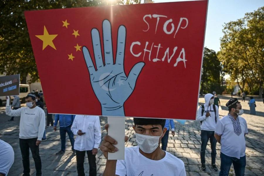 Uyghur genocide protest
