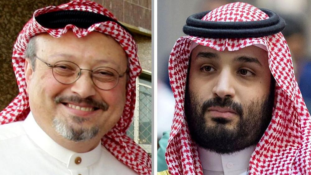 Jamal Khashoggi and Crown Prince Mohammed bin Salman
