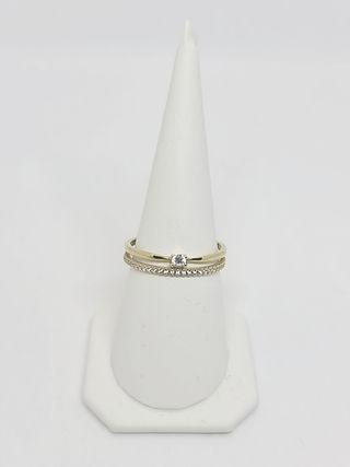 Prsten sa Cirkonima iz 2 dela