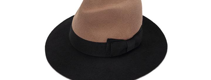 כובע פודרה בשני צבעים - ג׳סטין