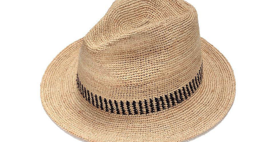 מגבעת קש עם פסים שחורים - ג׳סטין