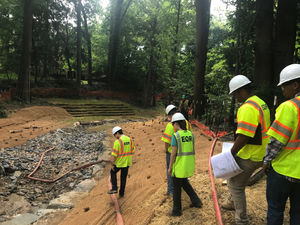 Business Administration intern gets feet wet in Environmental
