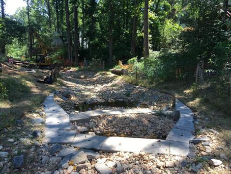 Snakeden Branch at Lake Audubon Stream Restoration