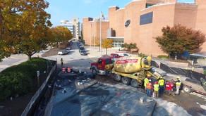 MD Science Center - Pervious Concrete Parking Lot
