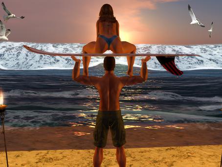 Sunset Settles on The Waves.#♔294♔