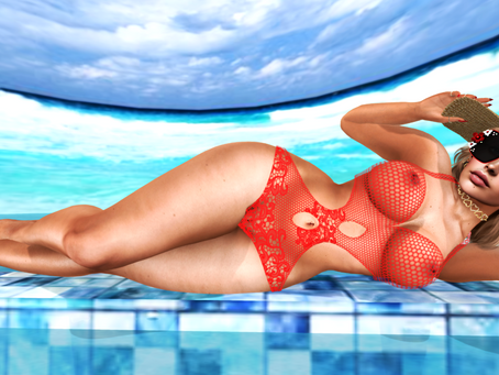 Relaxing By The Poolside.♔#247♔