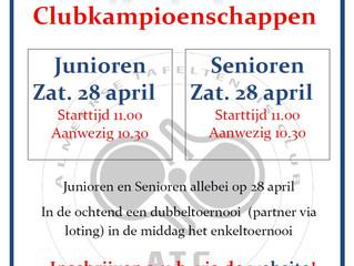Uitnodiging Clubkampioenschap 2018