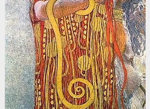 WHY IS HYGEIA POSED WITH A SNAKE?