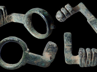 How would YOU look if, like the first-century CE bronze ring key pictured here, you were recently un
