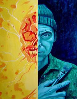 Self Portrait as Psychic Energy 16x20