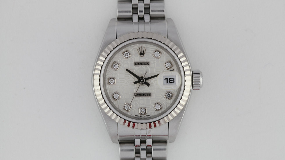 Ladies Rolex Datejust Diamond Dial 79174
