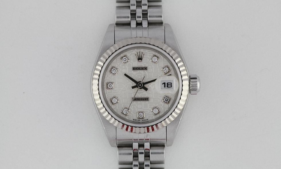 Ladies Rolex Datejust Diamond Dial 79174
