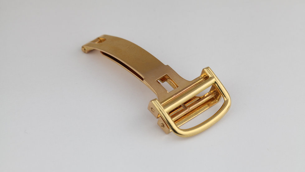 Cartier 18mm Mens Deployant Buckle 18k Gold