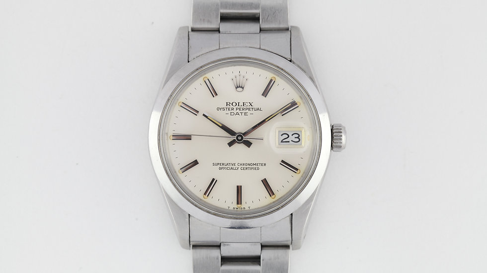 Rolex Date Ref 15000 Stainless Steel Box Papers 1983