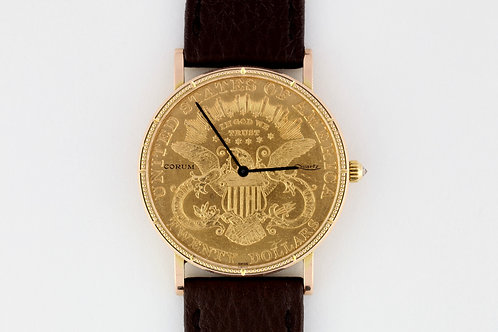 Corum 20$ Liberty Coin 22k & 18K Gold