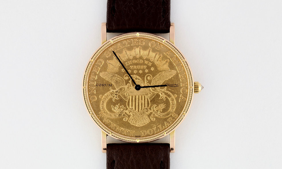 Corum 20$ Liberty Coin 22k & 18K Gold