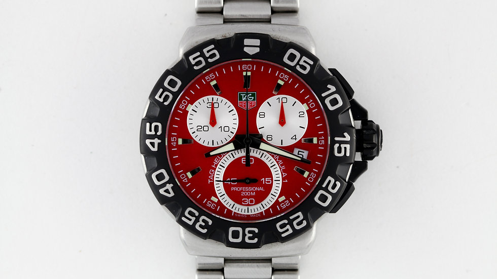 Tag Heuer Formula 1 Chronograph Red Dial CAH1112