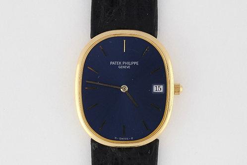 Patek Philippe Ref 3788 Ellipse Blue Dial 18K Yellow Gold