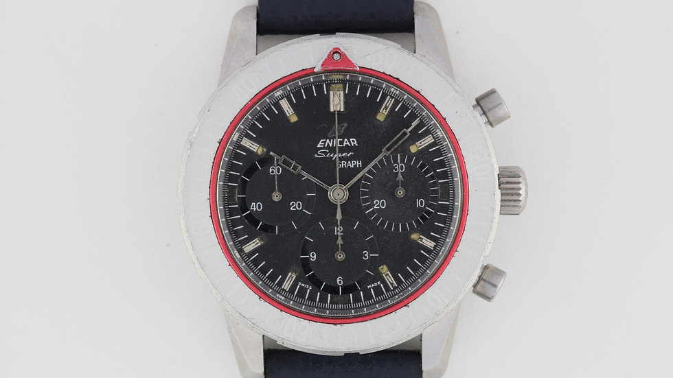 Rare Enicar Super Graph with Speedmaster Hand