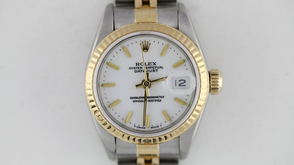 Rolex Ladies Datejust Two Tone 69173 Papers