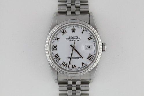 Rolex Datejust 16220 Enamel White