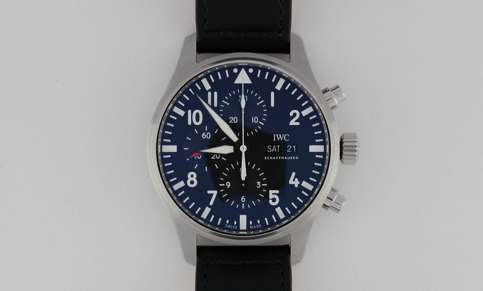 IWC Pilot Flieger Chronograph  3777-09 New In Box