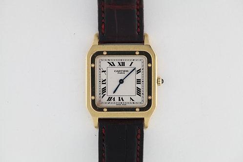 Cartier Santos Dumont 18k Deployant Box Papers