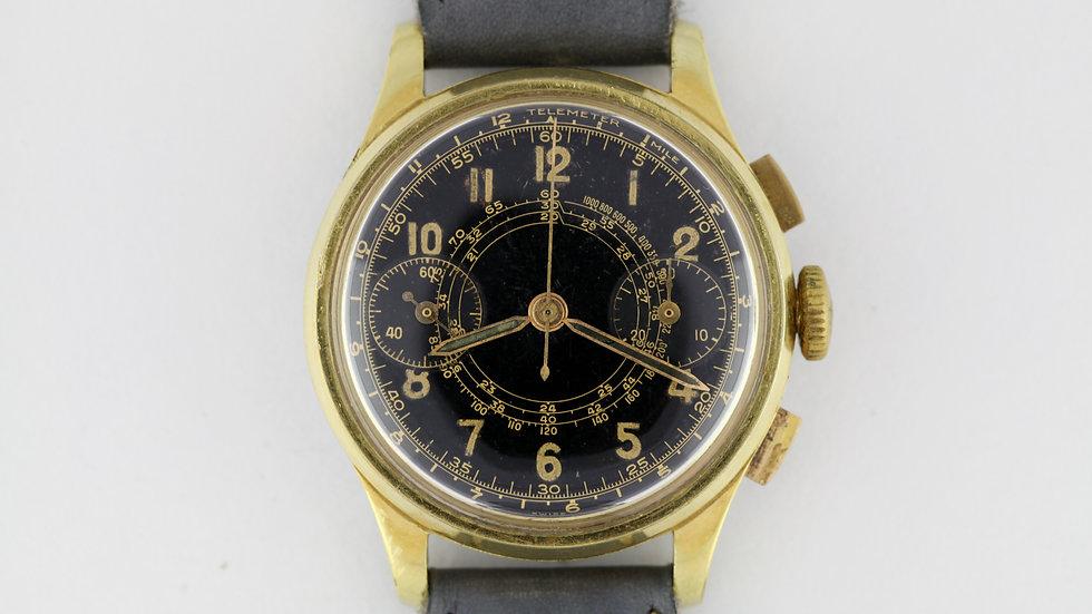 Vintage Harman Valjoux 23 Gilt Glossy Dial