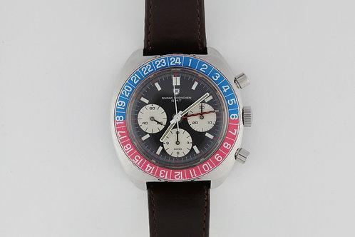 Nivada Grenchen GMT Pepsi Valjoux 724