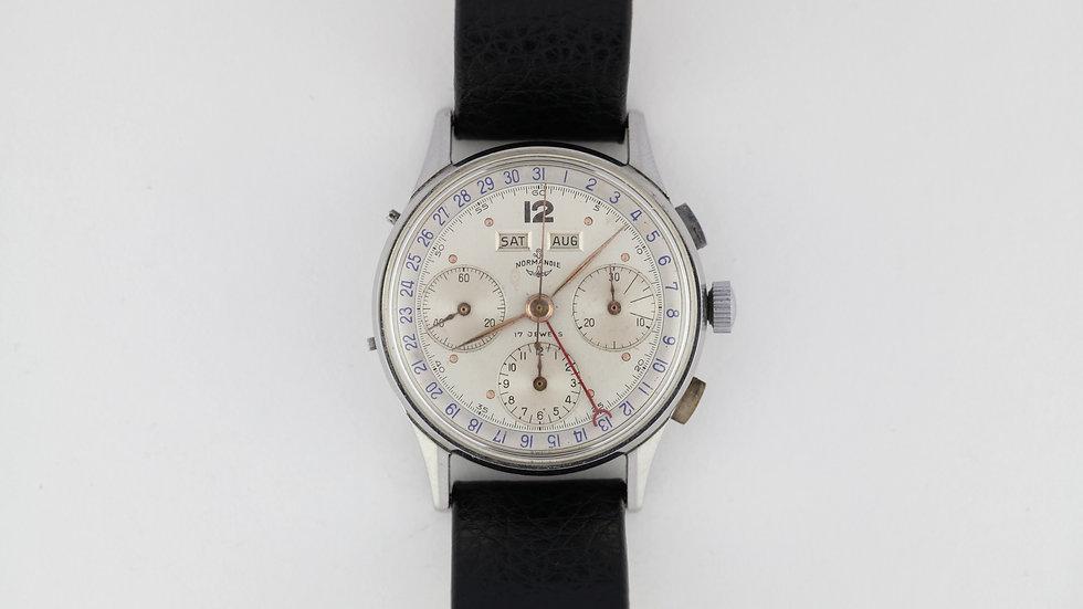 Normandie Triple Date Chronograph Valjoux 72c