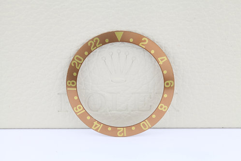 Rolex 1675 Fat Font Faded Factory Brown Gold Insert