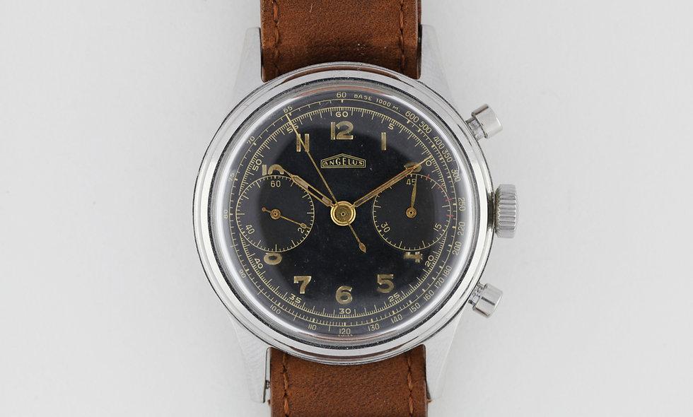 Angelus Chronograph Jumbo Gilt Dial 38.5mm
