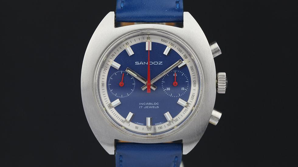Sandoz Chronograph Blue NOS