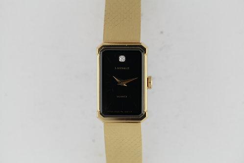 Ladies Seiko Lassale Diamond Black Dial New Old Stock