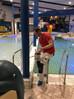 Binnen schilderwerk Zwembad de Bongerd in Wageningen