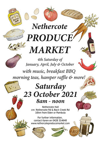 Nethercote Produce Market Poster
