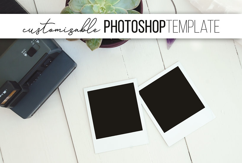 Polaroid Picture Photoshop Template