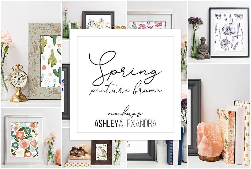 Spring Picture Frame Mockup Bundle