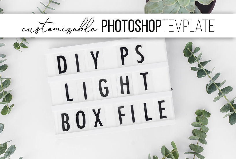 DIY Lightbox Photoshop Template