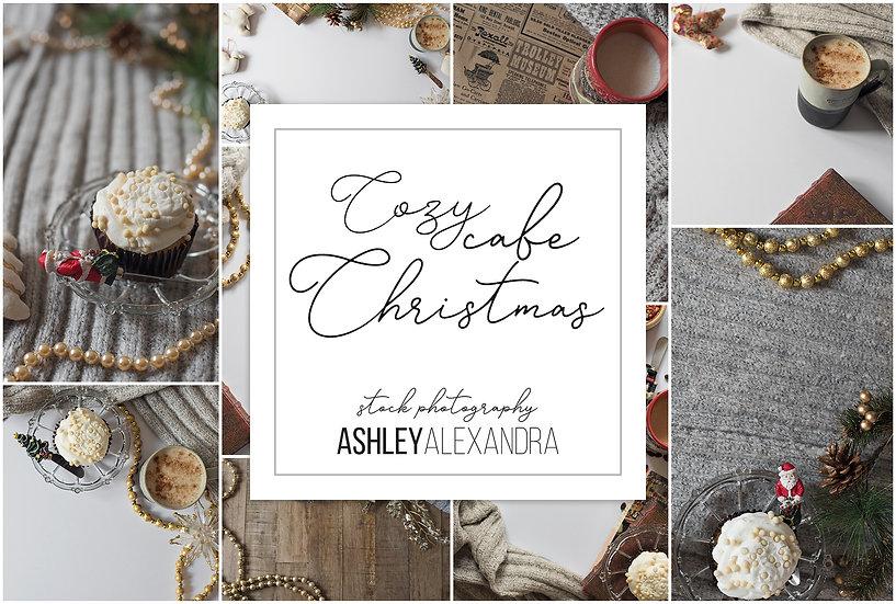 Cozy Cafe Christmas Stock Photos
