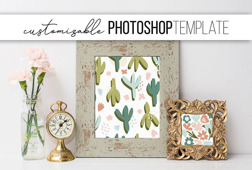 Sage & Gold Picture Frame Mockup