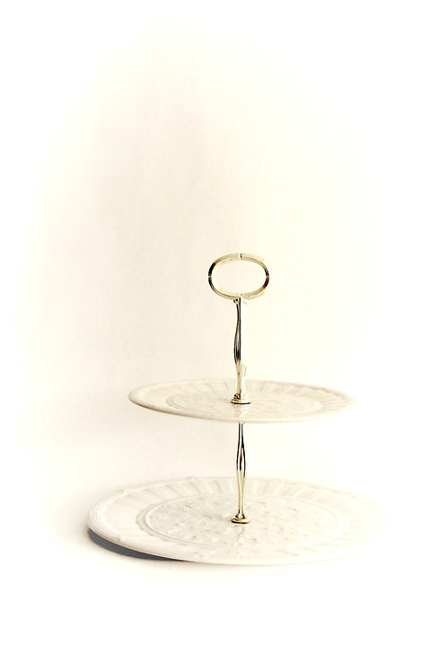 Wedgwood Creamware Two-Tier Cake Stand