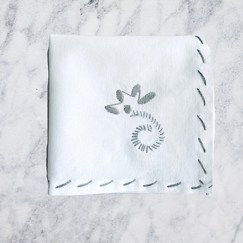 Hand Embroidered Cocktail/ Appetizer Napkins