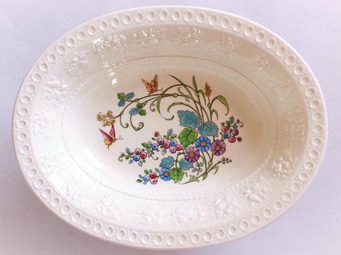 Antique L'Heure Bleue Wedgwood Creamware Serving Bowl