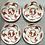 Thumbnail: 4 Art Deco Royal Cauldon Phoenix Rising Porcelain Dinner Plates set of 4