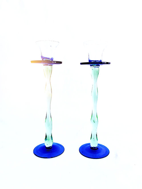 Blue Green Candlesticks