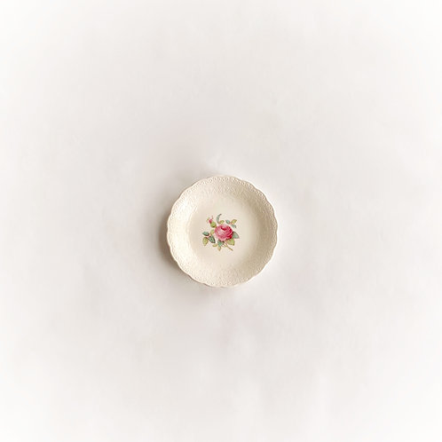 Spode Creamware Rose Butter Pat