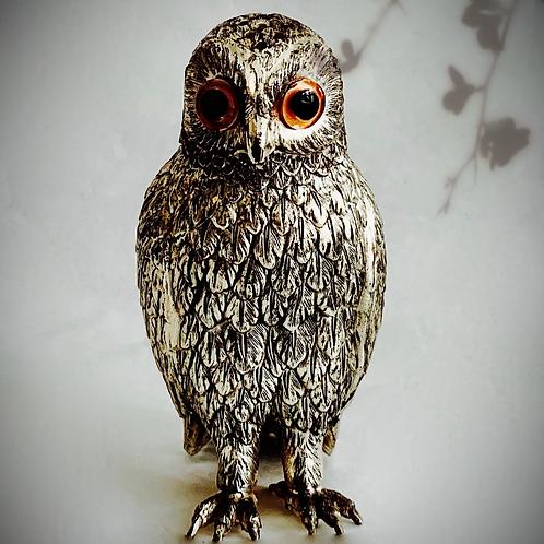 Silver Owl Sugar Shaker Figurine